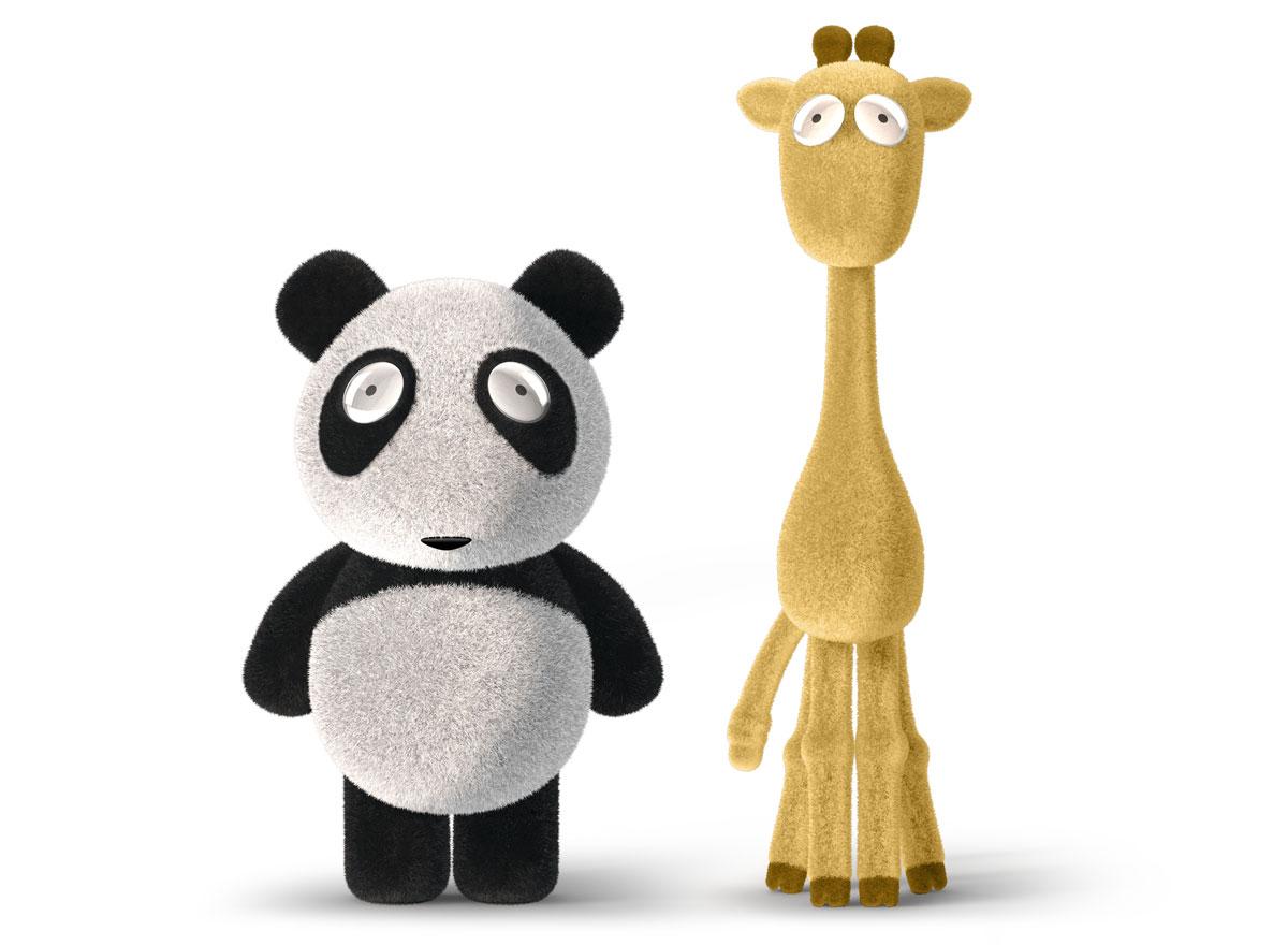 walrus toys panda giraffe